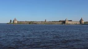 Άποψη του φρουρίου Oreshek Περιοχή του Λένινγκραντ, της Ρωσίας φιλμ μικρού μήκους