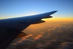 Άποψη του φτερού αεροπλάνων αεριωθούμενων αεροπλάνων Στοκ εικόνες με δικαίωμα ελεύθερης χρήσης