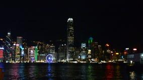 Άποψη του Χογκ Κογκ τή νύχτα φιλμ μικρού μήκους