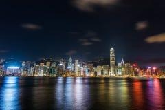 Άποψη του Χονγκ Κονγκ κατά τη διάρκεια Στοκ Εικόνες