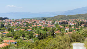 Άποψη του χωριού Argalasti, Pelio, Ελλάδα Στοκ φωτογραφίες με δικαίωμα ελεύθερης χρήσης