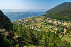 Άποψη του χωριού Bolshie Koty Στοκ Φωτογραφίες