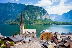 Άποψη του χωριού Hallstatt στοκ εικόνα