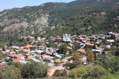 Άποψη του χωριού Pedoulas, στο νησί της λίρας Κύπρου Στοκ Εικόνες