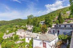 Άποψη του χωριού Pinakates, Pelion, Ελλάδα Στοκ Εικόνες