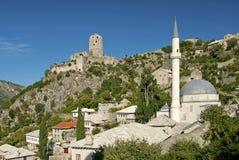 Χωριό Pocitelj κοντά σε mostar σε Βοσνία-Ερζεγοβίνη Στοκ Φωτογραφίες