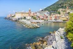 Άποψη του ψαροχώρι Nervi, Ιταλία στοκ φωτογραφία με δικαίωμα ελεύθερης χρήσης