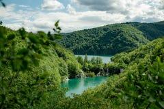 Άποψη του όμορφου τοπίου του φυσικού πάρκου όπου μπορείτε να δείτε καταρράκτες και δύο λίμνες στοκ εικόνες με δικαίωμα ελεύθερης χρήσης