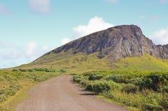 Άποψη του Ahu Ranu Raku Στοκ Φωτογραφίες