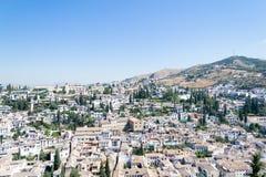 Άποψη του Albayzin από Alhambra Στοκ Εικόνα