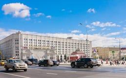 Άποψη του Arbat τετραγωνική Πράγα Μόσχα Στοκ φωτογραφία με δικαίωμα ελεύθερης χρήσης