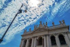 Άποψη του Archbasilica του ST John Lateran στη Ρώμη, Ιταλία Στοκ Εικόνες