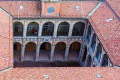 Άποψη του archiginnasio - Μπολόνια Στοκ εικόνα με δικαίωμα ελεύθερης χρήσης