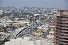 Άποψη του Ariel ενός αυτοκινητόδρομου του Λος Άντζελες Στοκ Φωτογραφίες