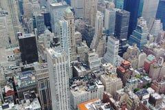 Άποψη του Ariel σχετικά με το Μανχάταν Νέα Υόρκη ΗΠΑ Στοκ Εικόνα
