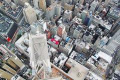 Άποψη του Ariel σχετικά με το Μανχάταν Νέα Υόρκη ΗΠΑ Στοκ φωτογραφία με δικαίωμα ελεύθερης χρήσης