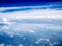 Άποψη του Ariel των σύννεφων και του ουρανού Στοκ Εικόνες
