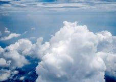 Άποψη του Ariel των σύννεφων και του ουρανού Στοκ φωτογραφία με δικαίωμα ελεύθερης χρήσης