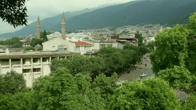 Άποψη του Bursa και Ulucami, Bursa, Τουρκία φιλμ μικρού μήκους