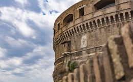 Άποψη του Castel Sant Angelo στη Ρώμη, Ιταλία Στοκ Εικόνες