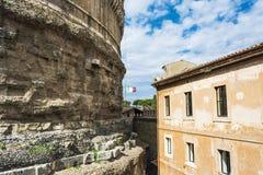Άποψη του Castel Sant Angelo στη Ρώμη, Ιταλία Στοκ Φωτογραφία