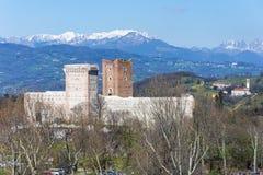 Άποψη του ` Castle της βίλας ` γνωστής επίσης ως Romeo ` s Castle σε Montecchio Maggiore Στοκ φωτογραφία με δικαίωμα ελεύθερης χρήσης
