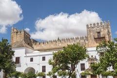 Άποψη του Castle Arcos de του Λα Frontera, Ισπανία Στοκ εικόνες με δικαίωμα ελεύθερης χρήσης