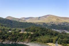 Άποψη του Castle Dolbadarn στοκ φωτογραφία