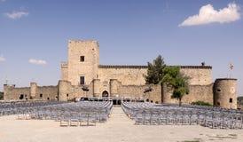 Άποψη του Castle Pedraza Συναυλία των κεριών στοκ φωτογραφία
