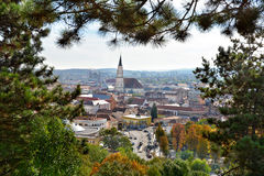 Άποψη του Cluj Napoca από Cetatuie Στοκ εικόνες με δικαίωμα ελεύθερης χρήσης