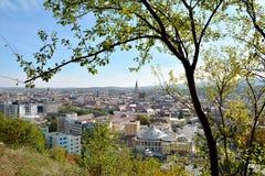 Άποψη του Cluj Napoca από Cetatuie Στοκ Εικόνα