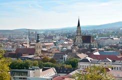 Άποψη του Cluj Napoca από Cetatuie Στοκ Φωτογραφίες