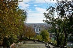 Άποψη του Cluj Napoca από Cetatuie Στοκ Εικόνες