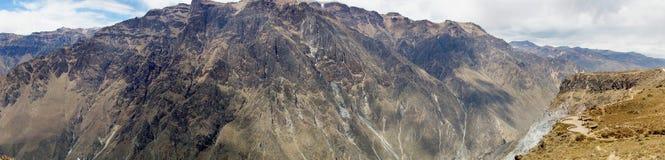 Άποψη του Cruz Del Condor, φαράγγι Colca, Arequipa, Περού, νότος Α Στοκ εικόνες με δικαίωμα ελεύθερης χρήσης