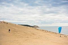 Άποψη του Duna Pyla, Aquitaine, Γαλλία Στοκ φωτογραφίες με δικαίωμα ελεύθερης χρήσης