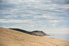 Άποψη του Duna Pyla, Aquitaine, Γαλλία Στοκ φωτογραφία με δικαίωμα ελεύθερης χρήσης