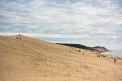 Άποψη του Duna Pyla, Aquitaine, Γαλλία Στοκ Εικόνες