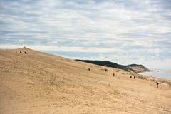 Άποψη του Duna Pyla, Aquitaine, Γαλλία Στοκ εικόνα με δικαίωμα ελεύθερης χρήσης
