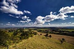 Άποψη του Hill Itatiaia Santa Ρίτα do Passa Quatro, Σάο Πάολο, Βραζιλία στοκ εικόνα με δικαίωμα ελεύθερης χρήσης