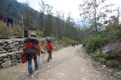 Άποψη του Hill Poon στο Νεπάλ Στοκ Εικόνες