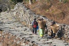 Άποψη του Hill Poon στο Νεπάλ Στοκ Φωτογραφίες