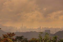 Άποψη του HK από το Hill ξυραφιών Στοκ Εικόνα