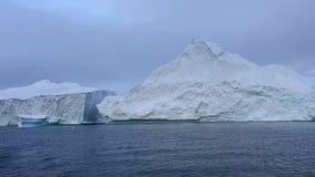 Άποψη του icefjord στη Γροιλανδία απόθεμα βίντεο