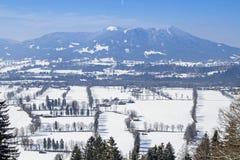 Άποψη του Isarwinkel το χειμώνα στοκ φωτογραφία με δικαίωμα ελεύθερης χρήσης