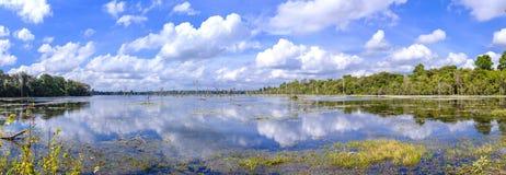 Άποψη του Jayatataka Baray Στοκ φωτογραφίες με δικαίωμα ελεύθερης χρήσης