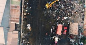 Άποψη του junkyard 4k απόθεμα βίντεο