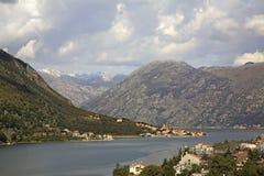 Άποψη του kotorska Boka σε Kotor Μαυροβούνιο Στοκ φωτογραφία με δικαίωμα ελεύθερης χρήσης