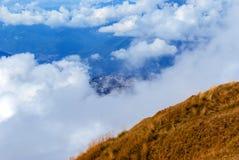 Άποψη του Krasnaya Polyana από την κορυφογραμμή Psekhako στοκ φωτογραφίες με δικαίωμα ελεύθερης χρήσης