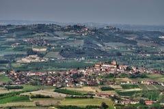Άποψη του Langhe από το Λα Morra στοκ εικόνα
