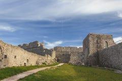 Άποψη του Monte Sant ` Angelo Castle Είναι μια αρχιτεκτονική στην πόλη Apulian Monte Sant ` Angelo, Ιταλία Apulia Στοκ φωτογραφίες με δικαίωμα ελεύθερης χρήσης